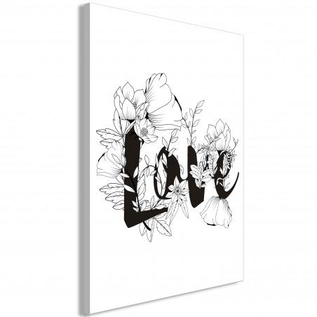Tablou Love With Flowers (1 Part) Vertical 40 cm x 60 cm-01