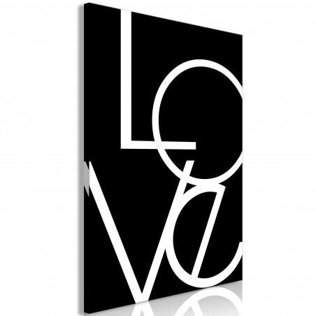 Tablou Black And White: Love (1 Part) Vertical 40 cm x 60 cm-01