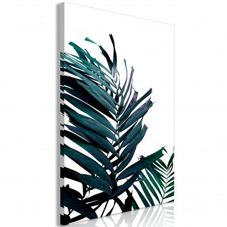 Tablou Emerald Leaves (1 Part) Wide 120 cm x 80 cm-01