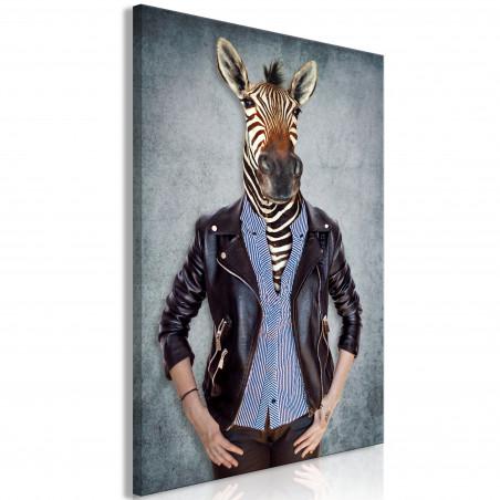 Tablou Zebra Ewa (1 Part) Vertical 40 cm x 60 cm-01