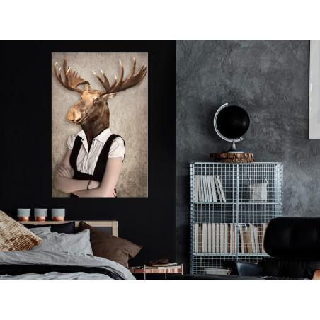 Tablou Brainy Moose (1 Part) Vertical 40 cm x 60 cm-01