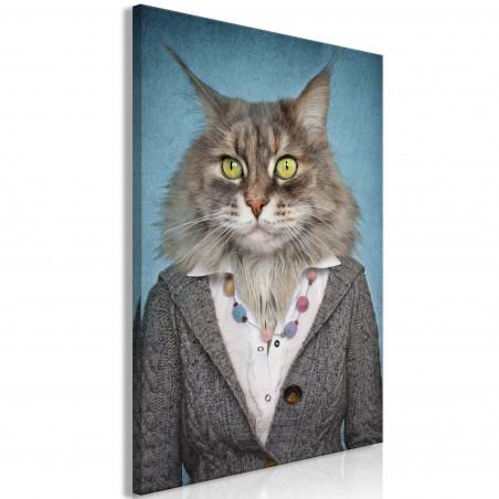Tablou Mrs. Cat (1 Part) Vertical 40 cm x 60 cm-01
