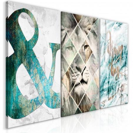 Tablou Lion Dreams (3 Part) 120 cm x 60 cm-01
