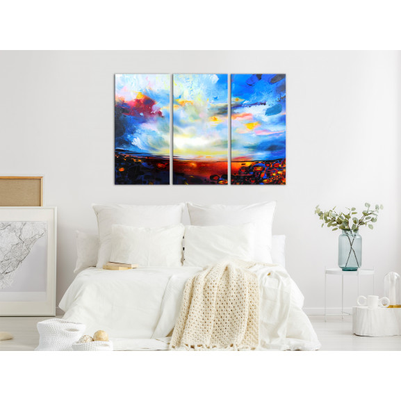 Tablou Colourful Sky (3 Parts) 120 cm x 80 cm naturlich.ro
