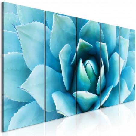 Tablou Agave (5 Parts) Narrow Blue 200 cm x 80 cm-01