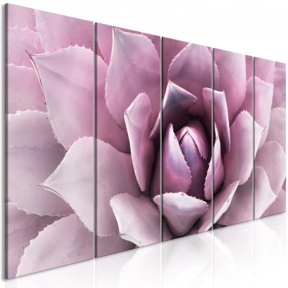 Tablou Agave (5 Parts) Narrow Pink...