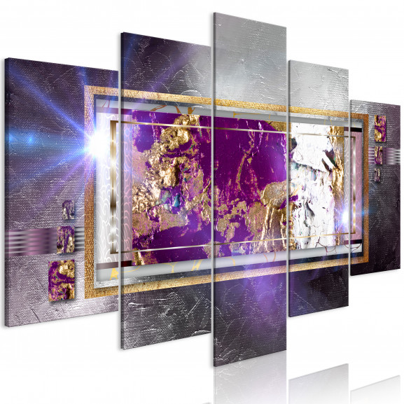 Tablou Golden Reflection (5 Parts)...