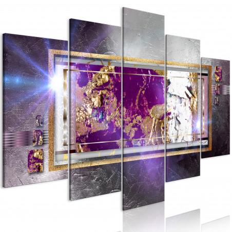 Tablou Golden Reflection (5 Parts) Wide 100 cm x 50 cm-01