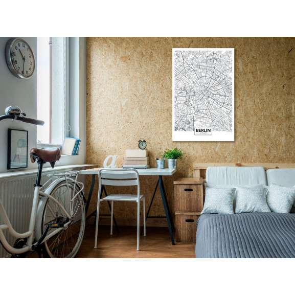 Tablou Map Of Berlin (1 Part) Vertical 40 cm x 60 cm naturlich.ro