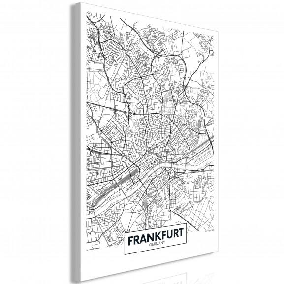 Tablou Map Of Frankfurt (1 Part)...