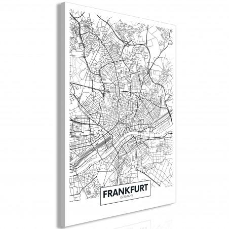 Tablou Map Of Frankfurt (1 Part) Vertical 40 cm x 60 cm-01