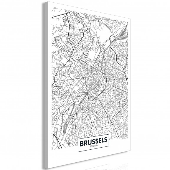 Tablou Map Of Brussels (1 Part)...