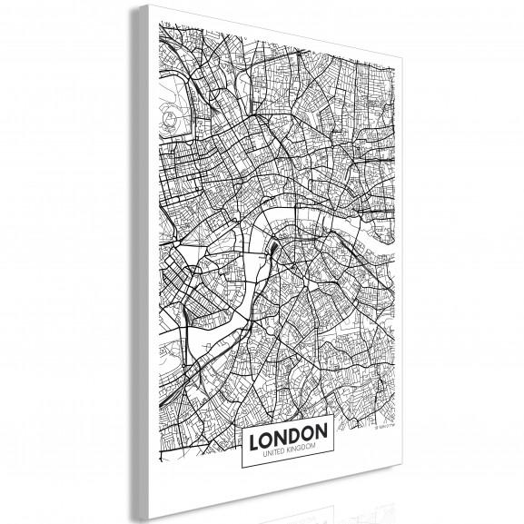 Tablou Map Of London (1 Part)...