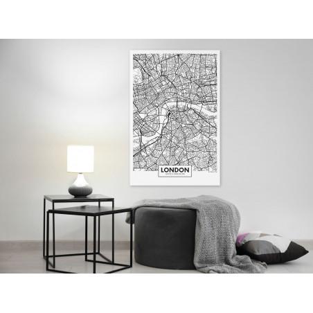 Tablou Map Of London (1 Part) Vertical 40 cm x 60 cm-01
