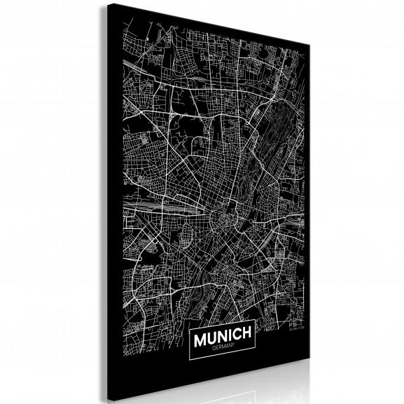 Tablou Dark Map Of Munich (1 Part)...