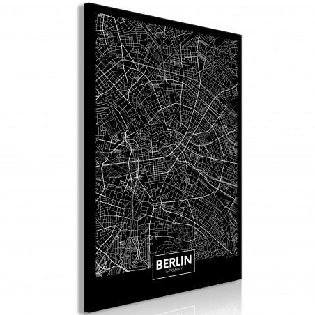 Tablou Dark Map Of Berlin (1 Part) Vertical 40 cm x 60 cm-01