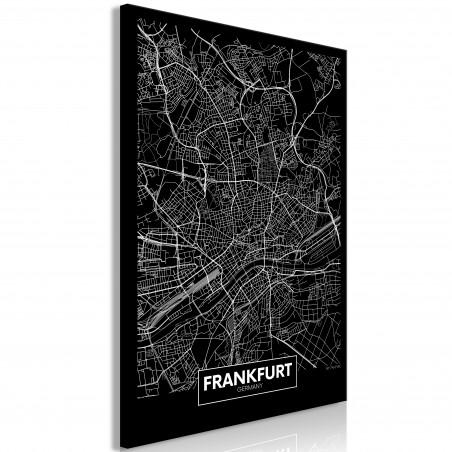 Tablou Dark Map Of Frankfurt (1 Part) Vertical 40 cm x 60 cm-01