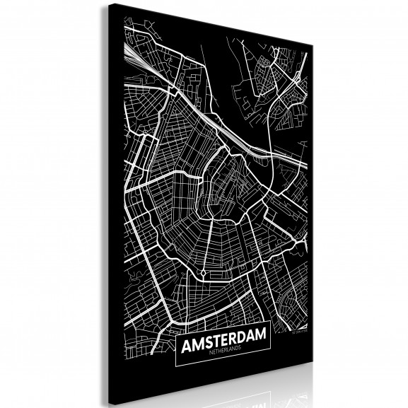 Tablou Dark Map Of Amsterdam (1 Part)...