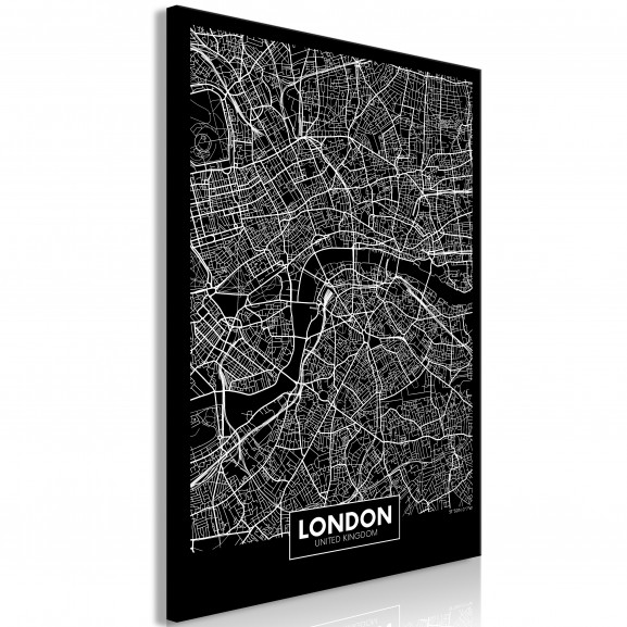Tablou Dark Map Of London (1 Part)...
