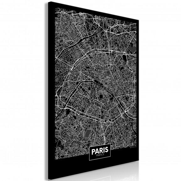 Tablou Dark Map Of Paris (1 Part)...
