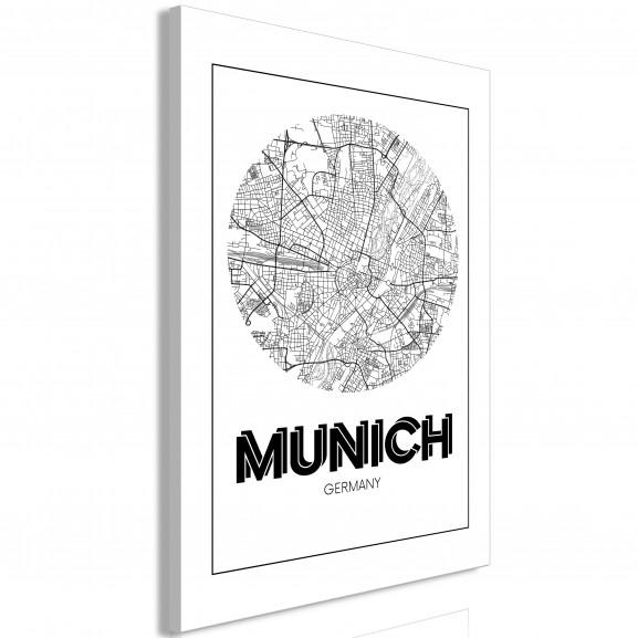 Tablou Retro Munich (1 Part) Vertical...