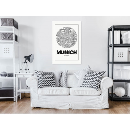 Tablou Retro Munich (1 Part) Vertical 40 cm x 60 cm-01