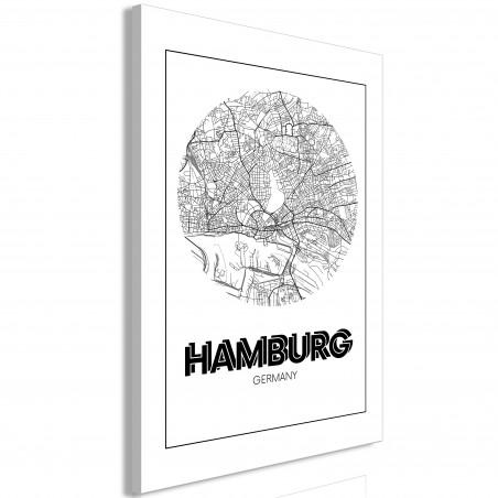 Tablou Retro Hamburg (1 Part) Vertical 40 cm x 60 cm-01