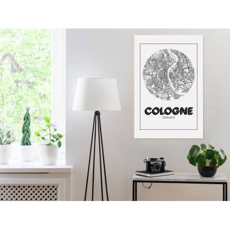 Tablou Retro Cologne (1 Part) Vertical 40 cm x 60 cm-01