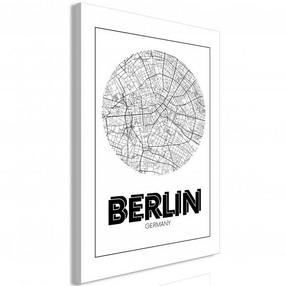 Tablou Retro Berlin (1 Part) Vertical...