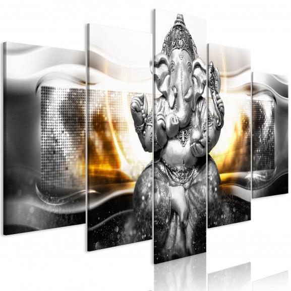 Tablou Buddha Style (5 Parts) Silver...