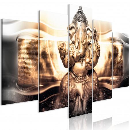Tablou Buddha Style (5 Parts) Golden Wide 100 cm x 50 cm-01