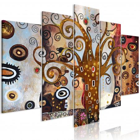 Tablou Joy Of Life (5 Parts) Wide 100 cm x 50 cm-01