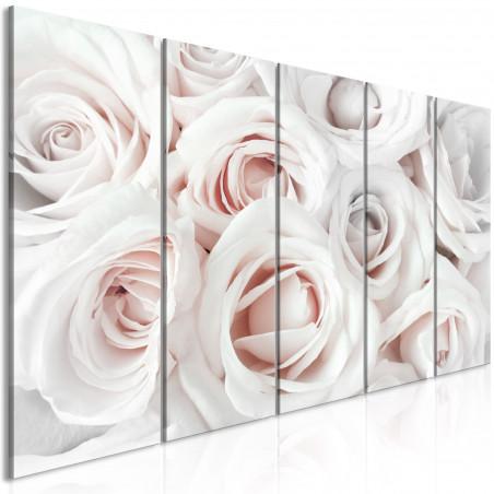 Tablou Satin Rose (5 Parts) Narrow Pink 200 cm x 80 cm-01