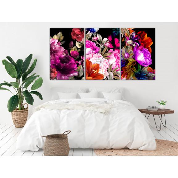 Tablou Holiday Bouquet (3 Parts) 120 cm x 60 cm naturlich.ro