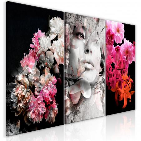 Tablou Mature Infatuation (3 Parts) 120 cm x 60 cm-01