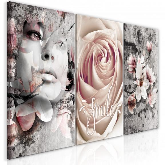 Tablou Floral Smile (3 Parts) 120 cm...