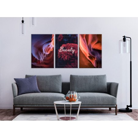 Tablou Beauty Of Canyons (3 Parts) 120 cm x 60 cm-01