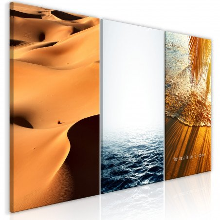 Tablou Sand And Water (3 Parts) 120 cm x 60 cm-01