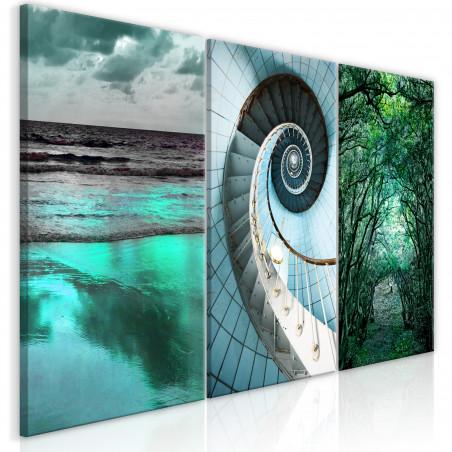 Tablou Faces Of Nature (3 Parts) 120 cm x 60 cm-01