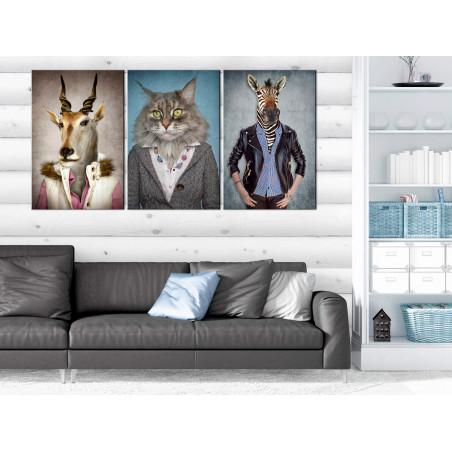 Tablou Menagerie (3 Parts) 120 cm x 60 cm-01