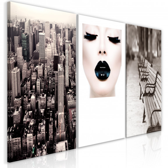 Tablou Faces Of City (3 Parts) 120 cm...