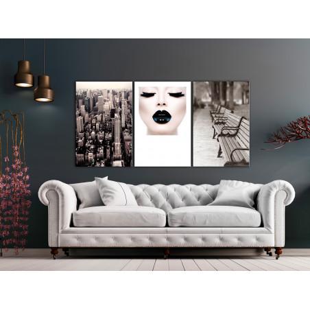 Tablou Faces Of City (3 Parts) 120 cm x 60 cm-01