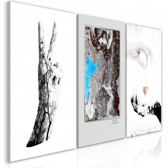 Tablou Gestures (3 Parts) 120 cm x 60 cm