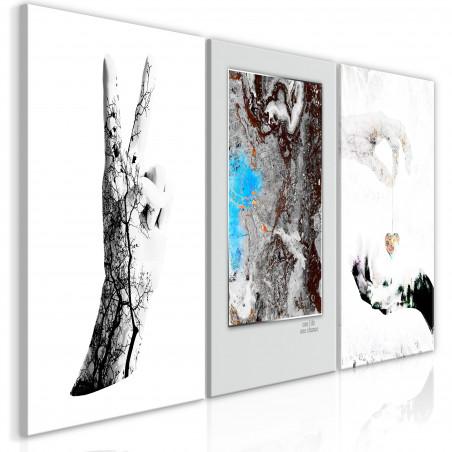 Tablou Gestures (3 Parts) 120 cm x 60 cm-01