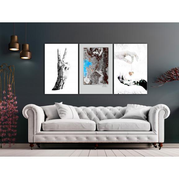 Tablou Gestures (3 Parts) 120 cm x 60 cm naturlich.ro