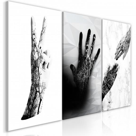 Tablou Female Hands (3 Parts) 120 cm...
