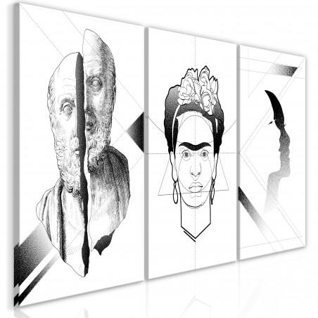 Tablou Facial Composition (3 Parts) 120 cm x 60 cm-01