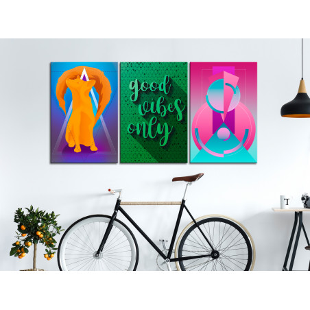 Tablou Shades Of Happiness (3 Parts) 120 cm x 60 cm-01