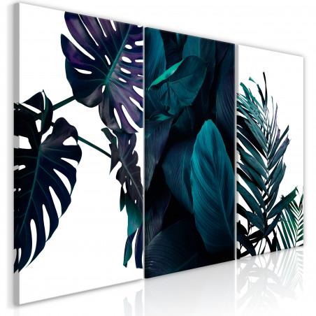 Tablou Cold Leaves (3 Parts) 120 cm x 60 cm-01