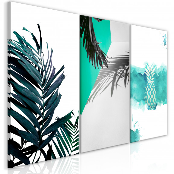 Tablou Palm Paradise (3 Parts) 120 cm...